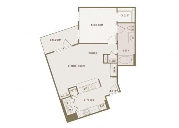 Monterra Las Colinas - A6 - 1 bedroom - 1 bath