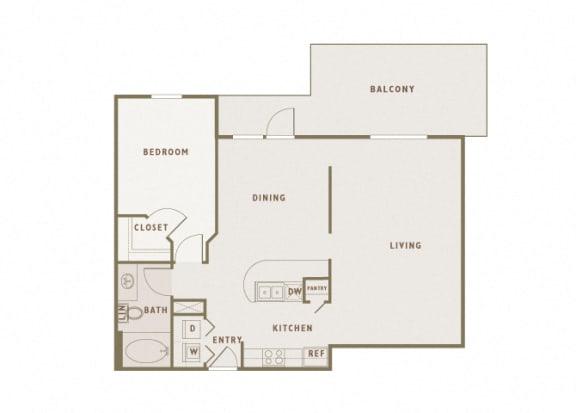 Monterra Las Colinas - A7 - 1 bedroom - 1 bath