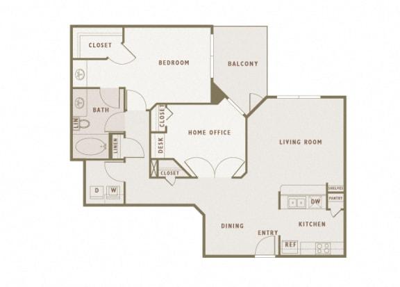 Monterra Las Colinas - A8 - 1 bedroom - 1 bath