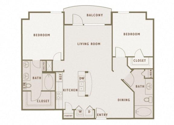 Monterra Las Colinas - B2 - 2 bedroom - 2 bath