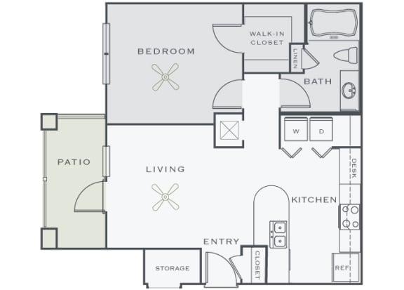 Corbin Greens Apartments - A1 - 1 bedroom and 1 bath