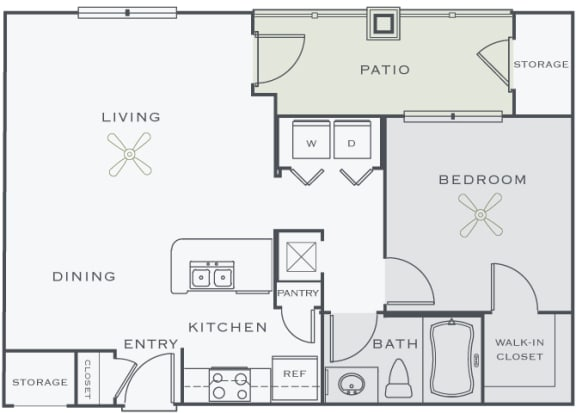 Corbin Greens Apartments - A2 - 1 bedroom and 1 bath