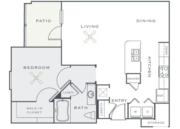 Corbin Greens Apartments - A3 - 1 bedroom and 1 bath