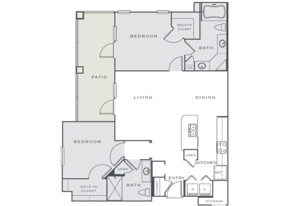 Corbin Greens Apartments - B2 - 2 bedrooms and 2 bath