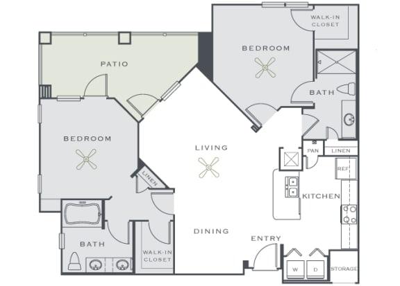 Corbin Greens Apartments - B3 - 2 bedrooms and 2 bath
