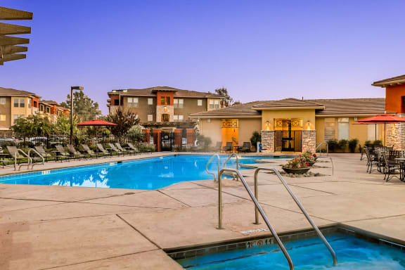 Quinn Crossing Apartments heated saltwater swimming pool and spa