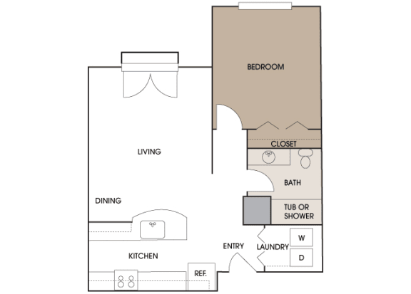Centre Pointe Apartments - A1 - 1 bedroom and 1 bath