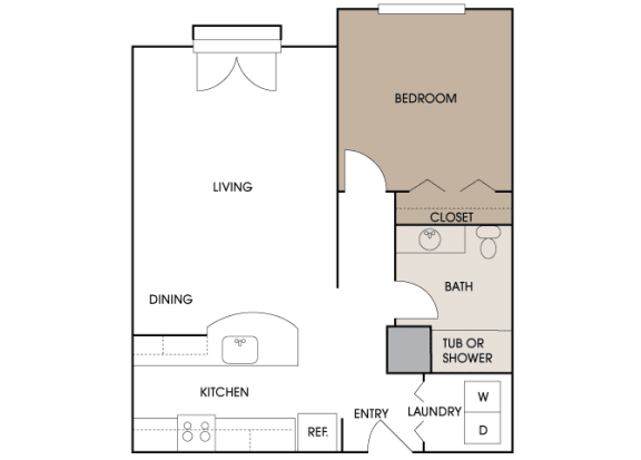 Centre Pointe Apartments - A2 - 1 bedroom and 1 bath