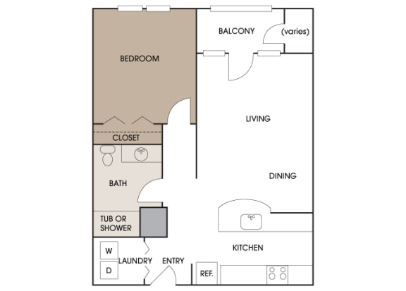 Centre Pointe Apartments - A3 - 1 bedroom and 1 bath