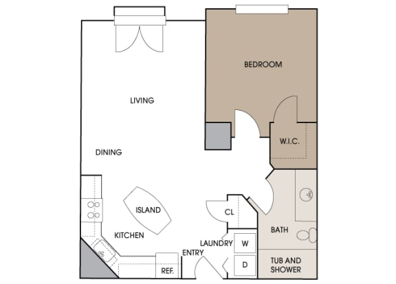 Centre Pointe Apartments - A5 - 1 bedroom and 1 bath