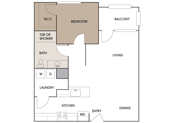 Centre Pointe Apartments - A6 - 1 bedroom and 1 bath