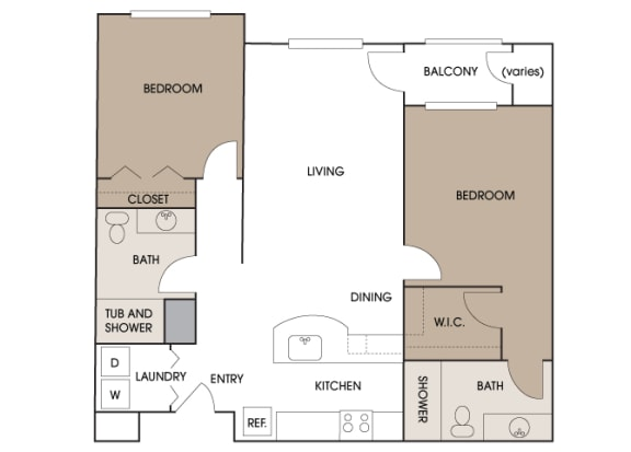 Centre Pointe Apartments - B2 - 2 bedrooms and 2 bath