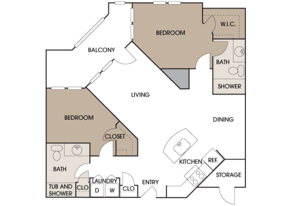 Centre Pointe Apartments - B4 - 2 bedrooms and 2 bath