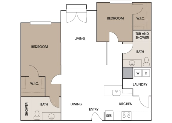 Centre Pointe Apartments - B6 - 2 bedrooms and 2 bath