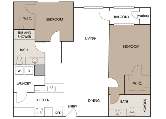 Centre Pointe Apartments - B7 - 2 bedrooms and 2 bath
