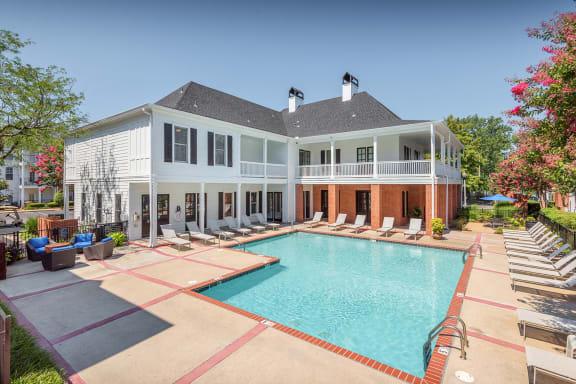 Sparkling resort-style swimming pool
