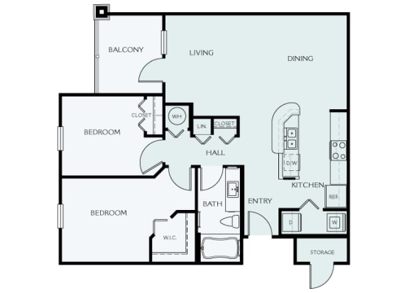 Delano at Cypress Creek - B1 (Beacon) - 2 bedrooms and 1 bath