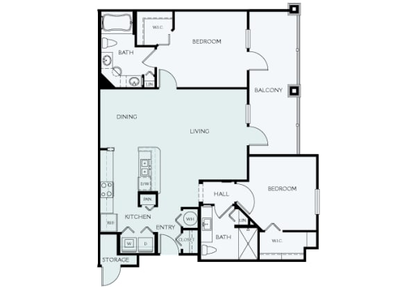 Delano at Cypress Creek - B2 (Carlyle) - 2 bedrooms and 2 bath