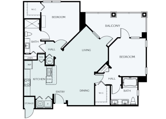 Delano at Cypress Creek - B3 (Dorchester) - 2 bedrooms and 2 bath