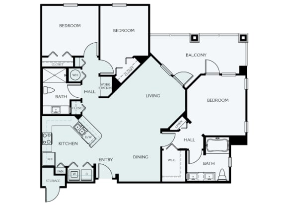 Delano at Cypress Creek - C1 (Evelyn) - 3 bedrooms and 2 bath