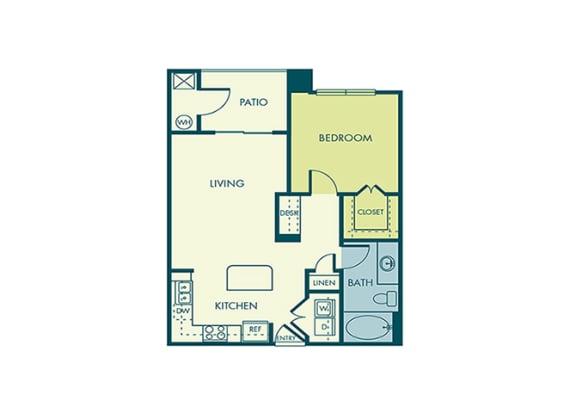 Acadia at Cornerstar - A1 (Lyra) - 1 bedroom and 1 bath -2D