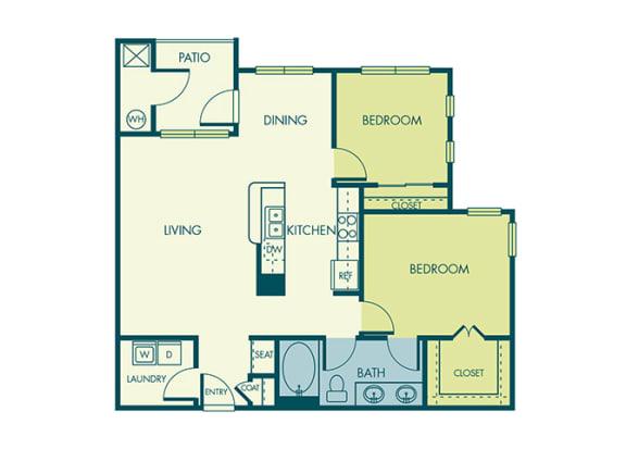 Acadia at Cornerstar - B1 (Aquila) - 2 bedroom and 1 bath - 2D