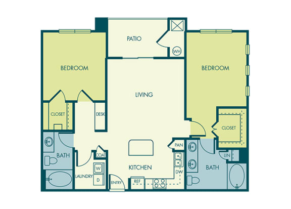 Acadia at Cornerstar - B2 (Carina) - 2 bedroom and 2 bath - 2D