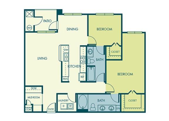 Acadia at Cornerstar - B3 (Gemini) - 2 bedroom and 2 bath - 2D
