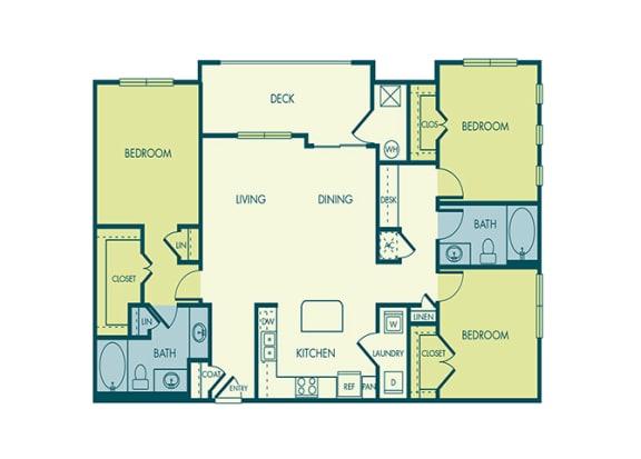 Acadia at Cornerstar - C1 (Auriga) - 3 bedroom and 2 bath - 2D