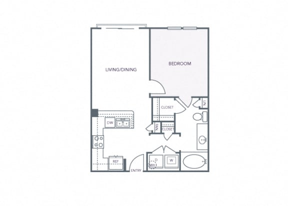 AVANT on Market Center - A1b - 1 bedroom and 1 bath