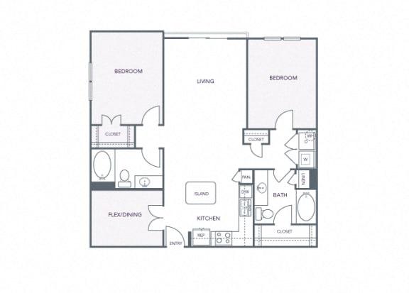 AVANT on Market Center - B3 - 2 bedroom and 2 bath