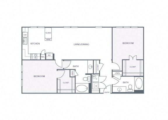 AVANT on Market Center - B5a - 2 bedroom and 2 bath
