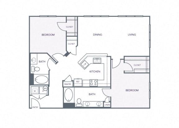 AVANT on Market Center - B6 - 2 bedroom and 2 bath