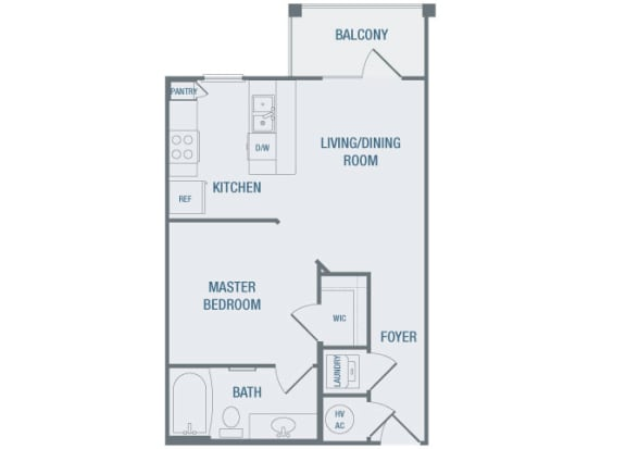 23Hundred at Berry Hill - A1 - 1 bedroom and 1 bath - 2D