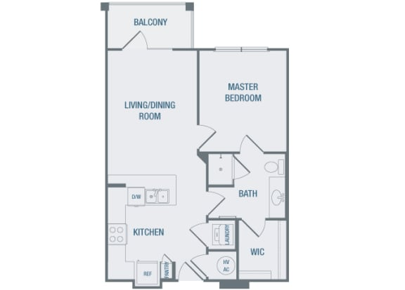 23Hundred at Berry Hill - A2 - 1 bedroom and 1 bath - 2D