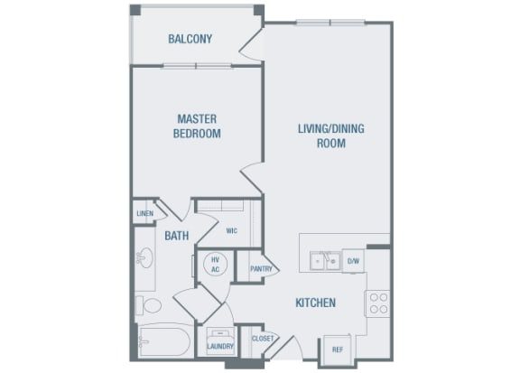 23Hundred at Berry Hill - A4 - 1 bedroom and 1 bath -2D