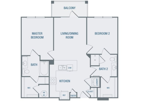 23Hundred at Berry Hill - B1 - 2 bedroom and 2 bath - 2D