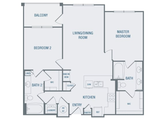 23Hundred at Berry Hill - B3 - 2 bedroom and 2 bath - 2D