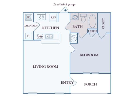 Carrington Place at Shoal Creek - A1 - 1 bedroom 1 bathroom - 2D