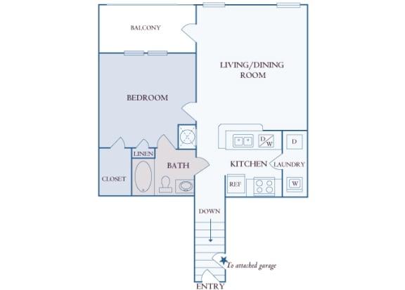 Carrington Place at Shoal Creek - A2 - 1 bedroom 1 bathroom - 2D