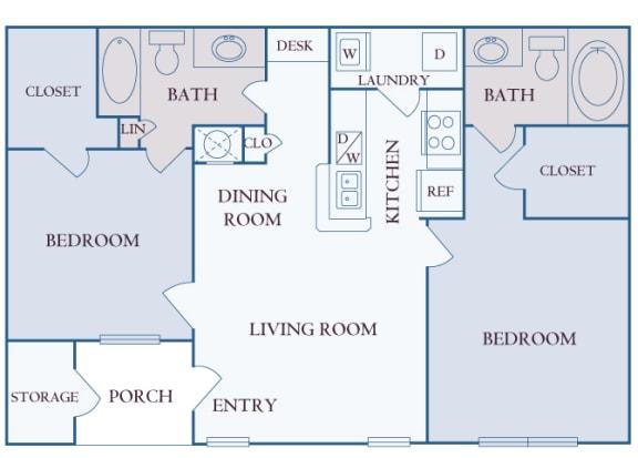 Carrington Place at Shoal Creek - B1 - 2 bedrooms 2 bathrooms - 2D