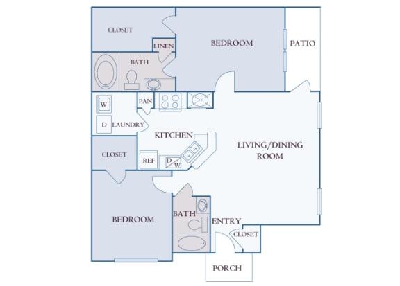 Carrington Place at Shoal Creek - B2 - 2 bedrooms 2 bathrooms - 2D