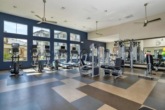 First and Main Apartments 24-hour fitness center