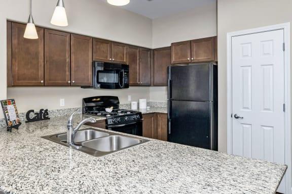 First and Main Apartments granite countertops
