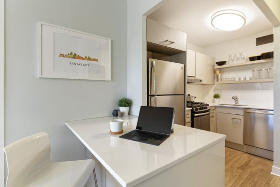 The KC High Line - Stainless steel appliances with gas ranges