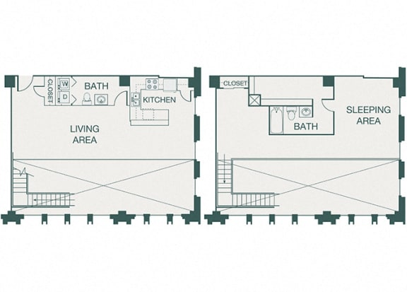 The Kirby - B3 - Penthouse 3 - 2 bedrooms - 1.5 baths
