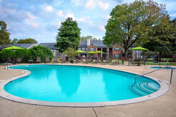 Littlestone of Village Green Apartments resort-style swimming pool and spa