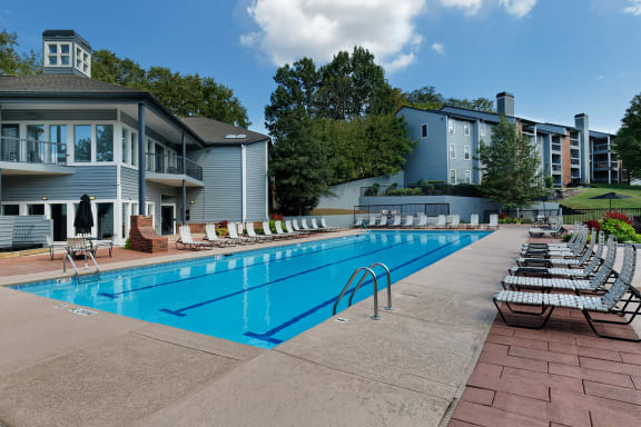 Arbor Hills Apartments olympic-sized swimming pool with sundeck