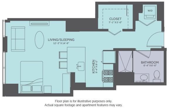 Floor Plan  Floor Plan at Moment, Chicago