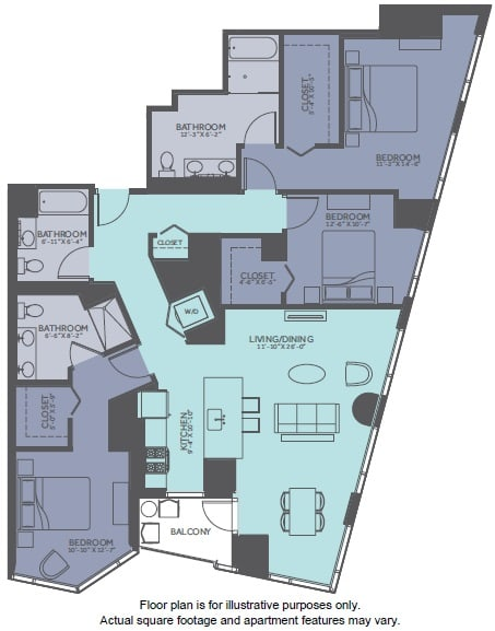 Floor Plan  Floor Plan at Moment, Chicago, IL